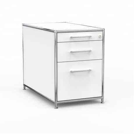 Standcontainer - Design 80cm - Hängeregistratur (ASF) - Holz - Dekor Weiss
