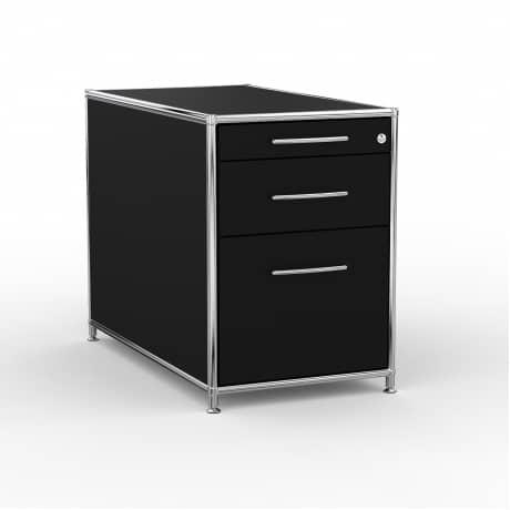 Standcontainer - Design 80cm - Hängeregistratur (ASF) - Holz - Dekor Schwarz