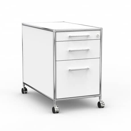 Rollcontainer - Design 80cm - Hängeregistratur (AWR) - Holz - Dekor Weiss