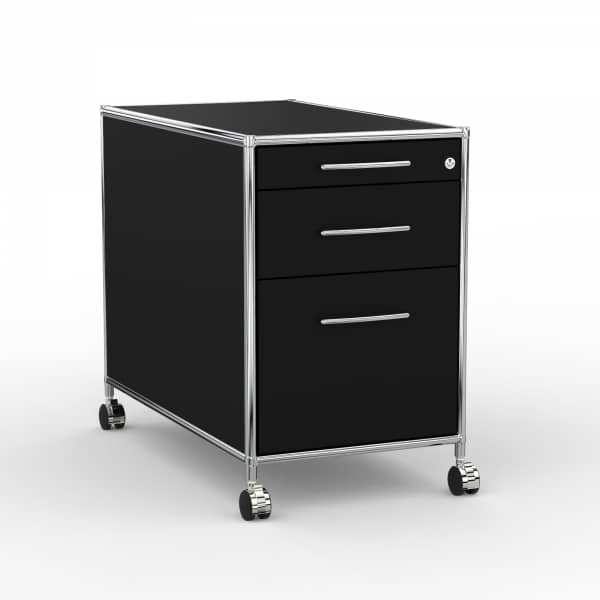 Rollcontainer Design 80cm - Hängeregistratur (AWR) - Holz - Dekor Schwarz