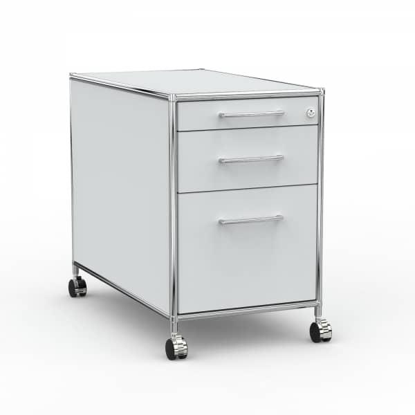 Rollcontainer - Design 80cm - Hängeregistratur (AWR) - Holz - Dekor Lichtgrau