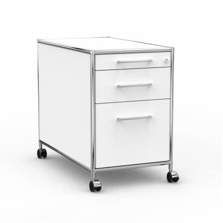 Rollcontainer Design 80cm - Hängeregistratur (AHR) - Holz - Dekor Weiss