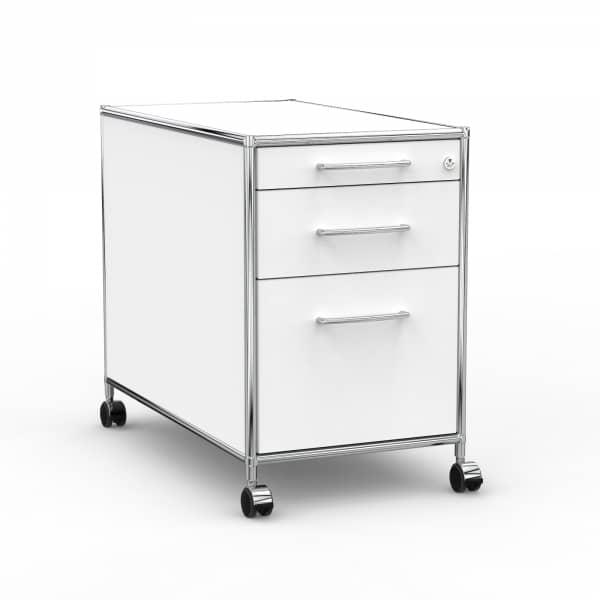Rollcontainer - Design 80cm - Hängeregistratur (AHR) - Holz - Dekor Weiss